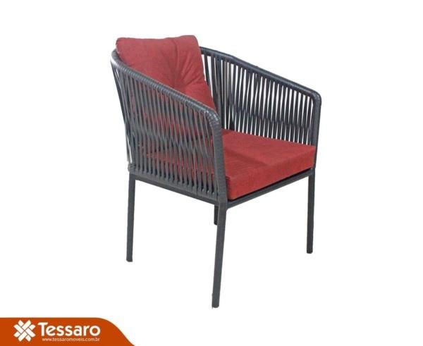 Cadeira com braço em fibra sintética Meteora