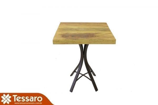 Mesa em madeira de demolição quadrada ferrara