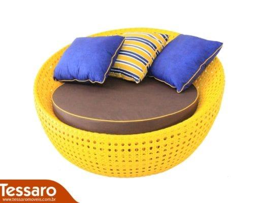 Chaise em fibra sintética samart bola