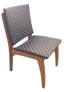 Cadeira de fibra sintética e madeira freijo adorata