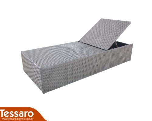 Chaise de fibra sintética com lateral tramada harmonie