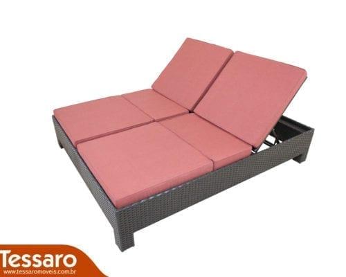 Chaise em fibra sintética dupla Harmonie