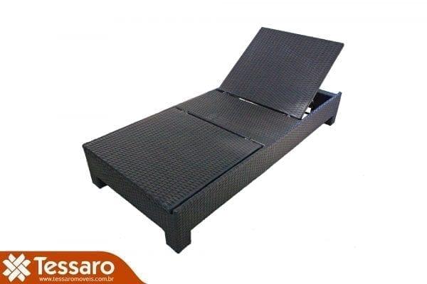Chaise em fibra sintética com dupla inclinação Harmonie