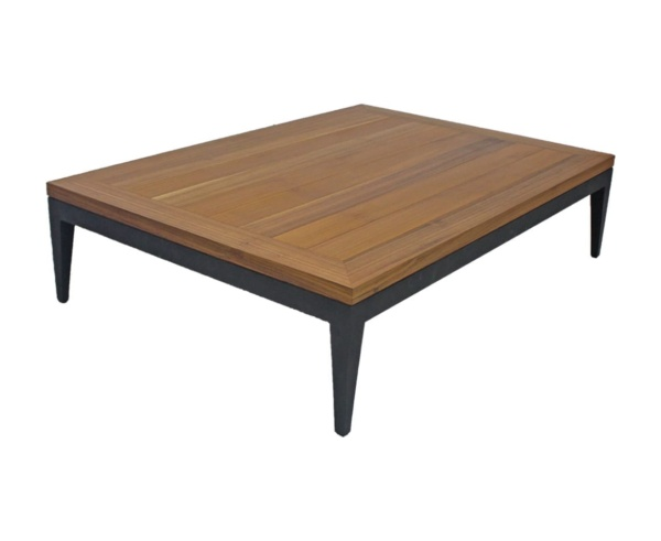 Mesa de centro madeira bianca alumínio