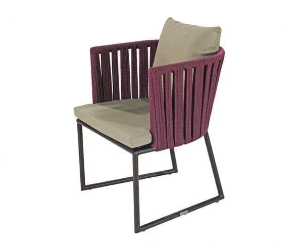 Cadeira com braço em corda náutica Milos