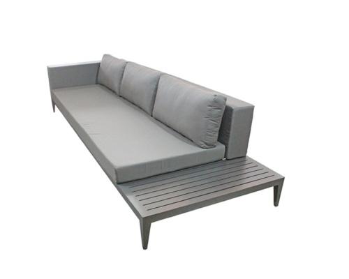 Sofá com mesa acoplada em alumínio Bianca alumínio