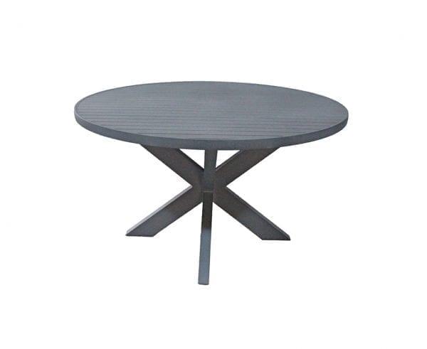 Mesa em alumínio com tampo ripado Beli