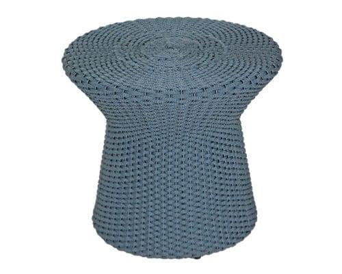 Puff em corda náutica e fibra sintética ampulheta