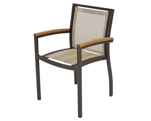 Cadeira com braço e tela sling Cecilia modulare