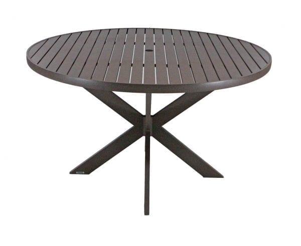 Mesa em alumínio com furo para ombrelone Beli