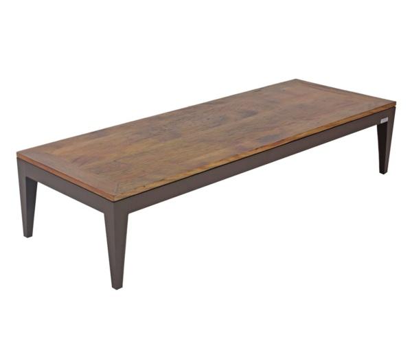 Mesa de centro em madeira de demolição Bianca