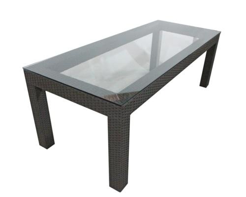 Mesa em fibra sintética com vidro de sobrepor Provence