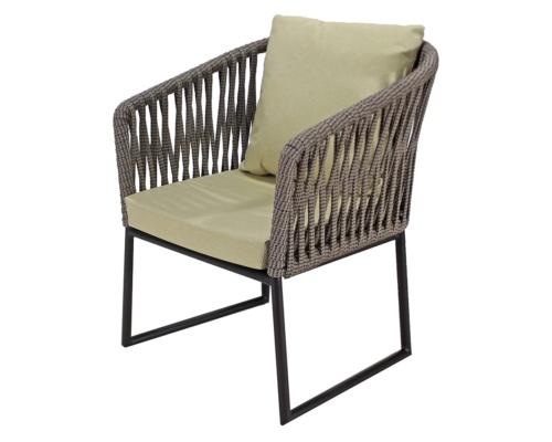 Cadeira com braço em corda náutica Meteora