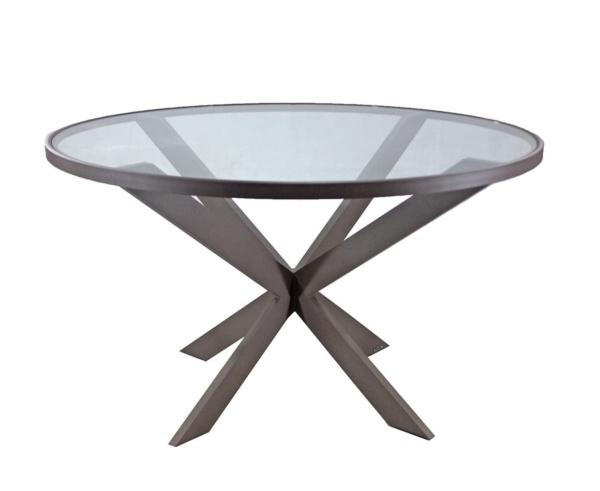 Mesa com tampo de vidro Beli