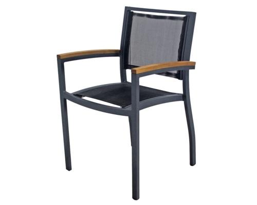 Cadeira com braço em tela sling Cecilia modulare