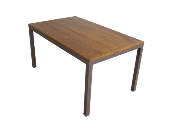 Mesa em alumínio e madeira Antoni