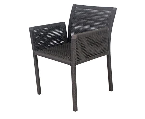 Cadeira em fibra sintética com braço Aspen