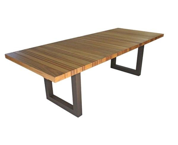 Mesa em madeira com base em alumínio Turim
