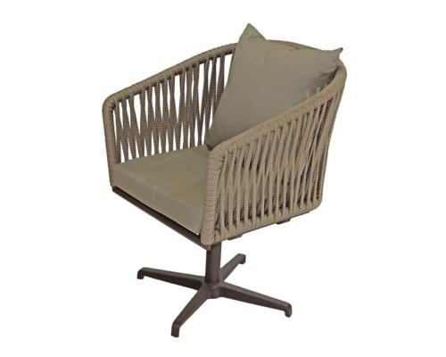 Cadeira com base giratória em corda náutica meteora