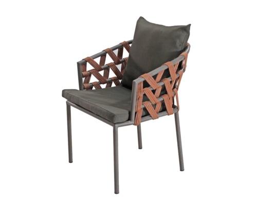 Cadeira com braço em corda náutica santorini