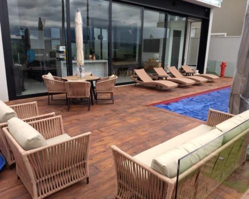 Decoração área externa - piscina