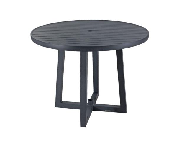 Mesa em alumínio com pés em cruz Antoni