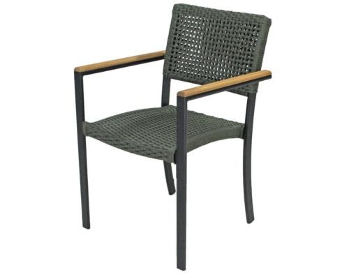 Cadeira com braço em corda náutica malibu