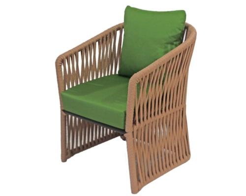 Cadeira com braço em corda náutica meteora toda tramada
