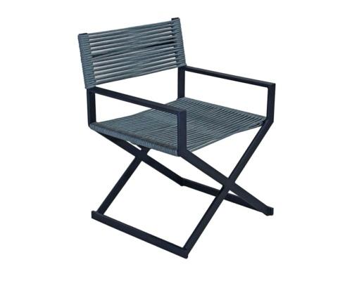 Cadeira com braço em corda náutica boss