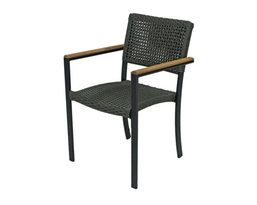 Cadeira com braço em corda náutica cecilia