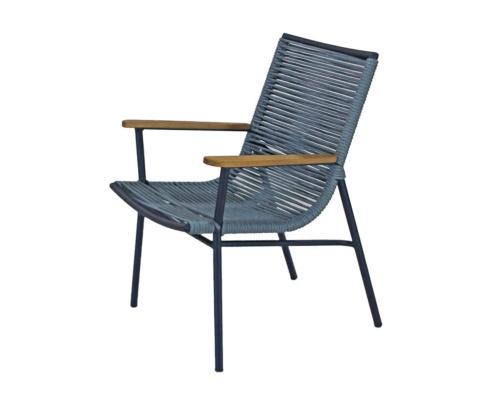 Cadeira com braço em corda náutica verano