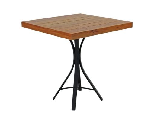 Mesa em madeira e alumínio ferrara