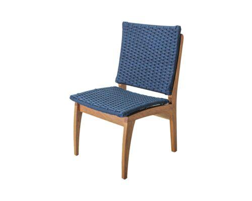 Cadeira em corda náutica e madeira freijó