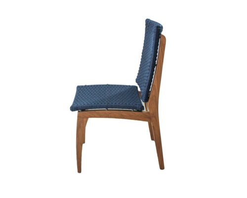 Lateral cadeira em corda náutica e madeira freijó