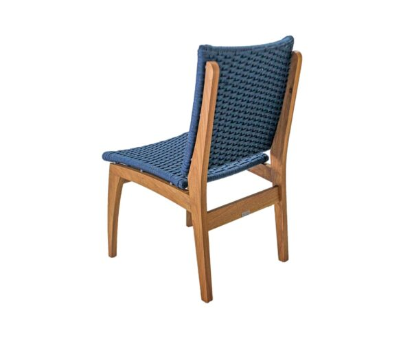 Traseira cadeira em corda náutica e madeira freijó